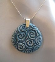 Blue Swirl Pendant by ridiculyss