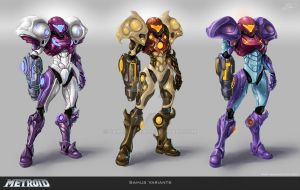 Samus Variants by Tchukart