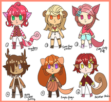 Bitesize Kemonomimi Sweeties [closed] by beartachi