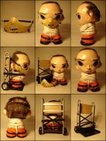 Hannibal Lecter Munny 9 angles by Flame-Ivy