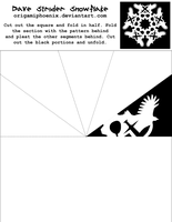 Dave Strider Snowflake Print-Out by OrigamiPhoenix