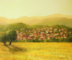 Golden Rural Scene by kirilart