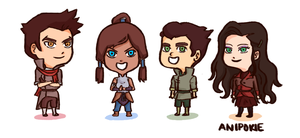 Korra Gang by AniPokie