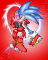 Sonic N Amy by RX-BlackHowling