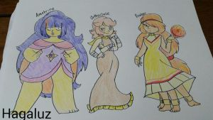 Jonquil's gem fusions by Hagaluz