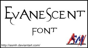 Evanescent Font by ASMH