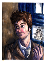 DW Watercolour-David Tennant by Yootah