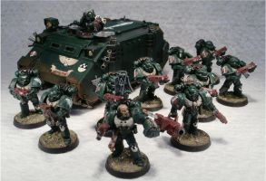 1st Tactical Squad, 4th Company, 1st Legion by Elmo9141