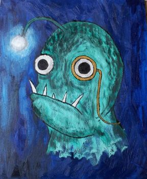 Deep one angler fish by killerqueen
