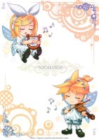 Rin and Len by Kazeo-YuuRin