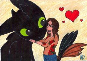 Love for Toothless by MissyAlissy