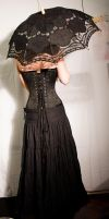 Black Corset Stock 05 by GillianStock