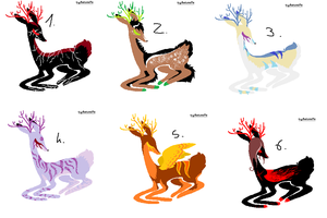 CLOSED - Deers Adoptables 87 by LeaAdoptables