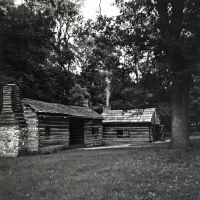 Dog Trot Cabin and Blacksmith Shop by rdungan1918