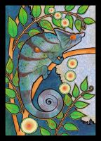Parson's Chameleon as Totem by Ravenari