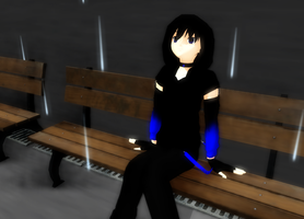 [MMD] D- Sitting in the rain by khftw