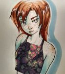 Freckles and florals by winter-ghost