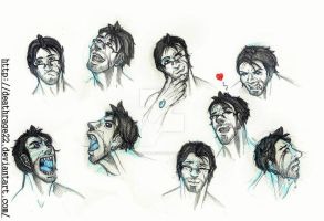Markiplier's expressions by DeathRage22