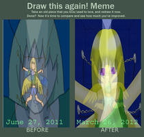 Draw again meme:  help me by AmyNChan