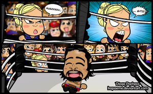 Lana and Rusev - WWE Chibi Comic #01 by kapaeme