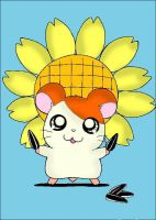 Hamtaro and Sunflower seeds by RiesgerRonFan