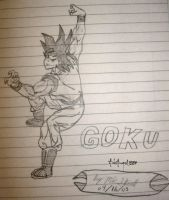 Goku Sketch by ArkAngel1284