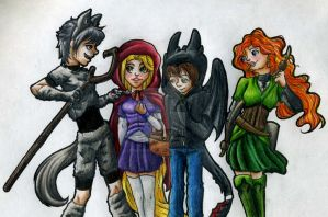 The Big Four Halloween Fun by LordOfTheShadow97