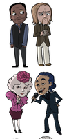 Hunger Games Chibis by Super-Cute
