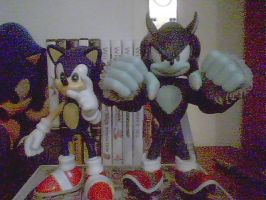 Sonic and Werehog Figures by ss2sonic