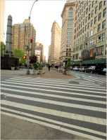 In Downtown Manhattan by SusArts
