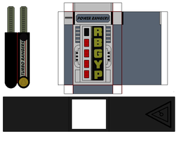Paper Power Rangers turbo morpher by mmpr97
