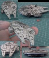 Millennium Falcon - Mini model by kotlesiu