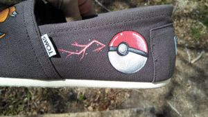 Hand Painted Custom TOMS Shoes Pokemon Themed by Ceil