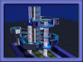 The Sims 2 - Sky Tower by graytailwolf