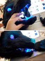 Starwolf: LED eyes and jawset by yeep-yeep