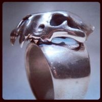 First prototype ring - Lion Skull by DocosArt
