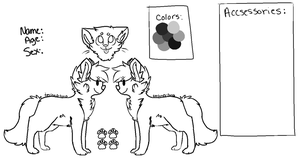 Cat Reference Lineart Free .: Re-Done:. by techno-tuna