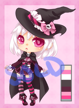 Little Skull Witch Adoptable: CLOSED by RaineSeryn