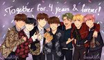 4 YEARS WITH BTS! by levenark
