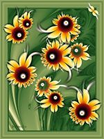 Sunflower painting - abstract by SvitakovaEva
