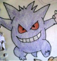 Gengar Coloured by KayceeMuffins