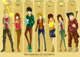 [Fanart] The Heroes of Olympus by tonyohoho