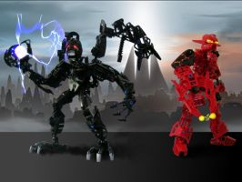 Toa Venom and Toa CarnageJak by ToaTom