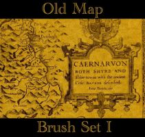 Old Map Brush Set I by chalchiuhtlicue