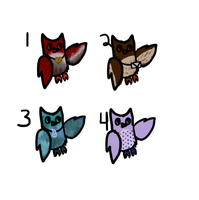 FREE owl adoptables -closed- by RRadopts