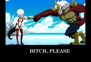 Mirajane vs. Elfman: Bitch, Please by RavenSnipper