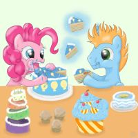 Eating cake by FinnishGirl97