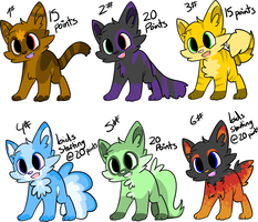 Adoptables by Pweety-Kitty