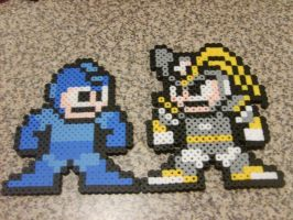 PB MegaMan and Bass by NightshadeAxl