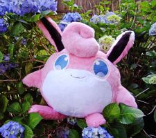 Wigglytuff and Hydrangeas! by SilkenCat